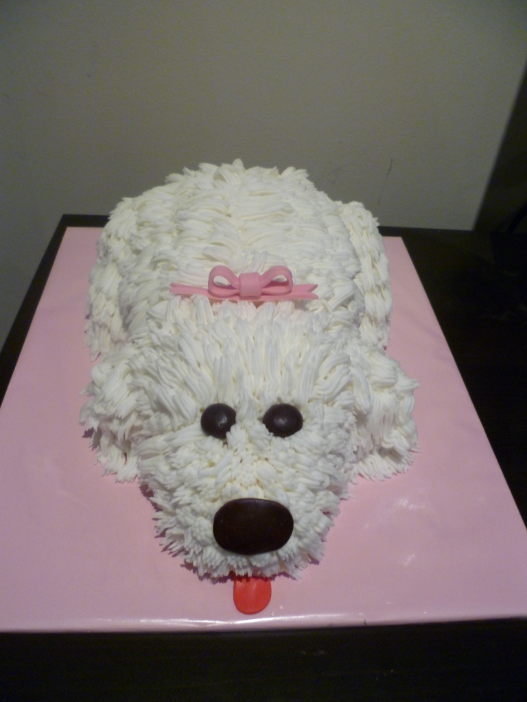 how to make a puppy dog birthday cake