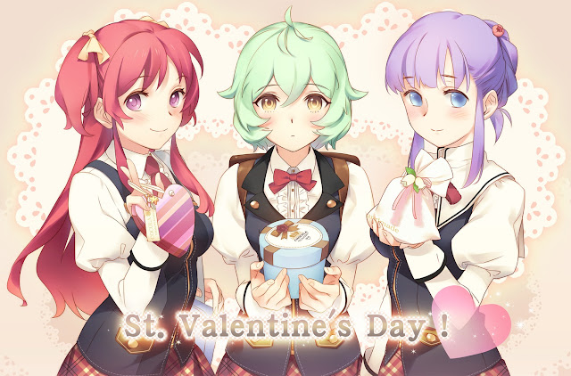 anime girls, cute girls,valentines day