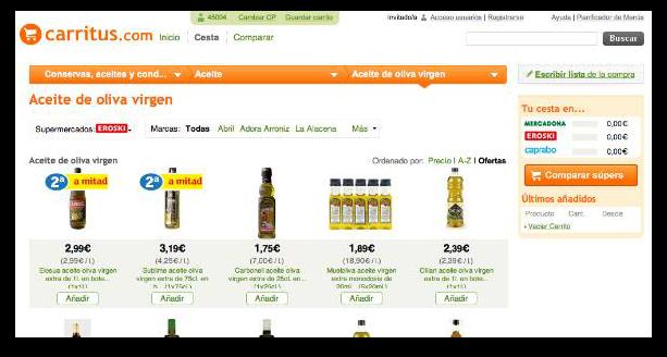 Carritus.com web número uno comparadora de productos de supermercados y grandes superficies