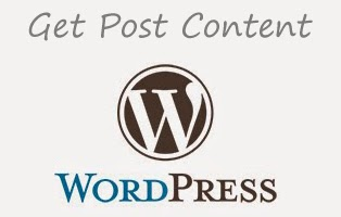 get post content in wordpress