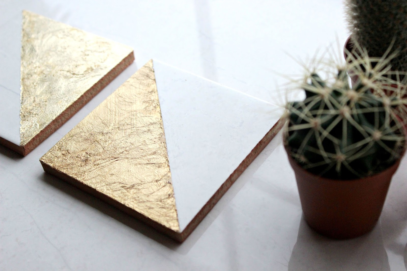 Swatches Diy Marble Gold Tile Coasters