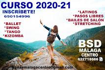 NUEVO CURSO 20-21.CURSOS DE BAILE EN BSD MÁLAGA CENTRO.