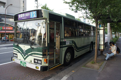 Kyoto City Bus 12 near Kinkakuji Temple