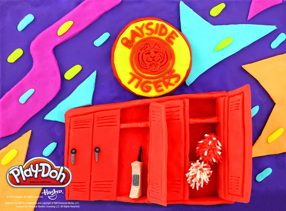 #PlayDohDay back to school creations; Saved By The Bell