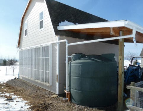 Build it solar blog our new 2500 gallon rain water for How to build a rainwater collection system