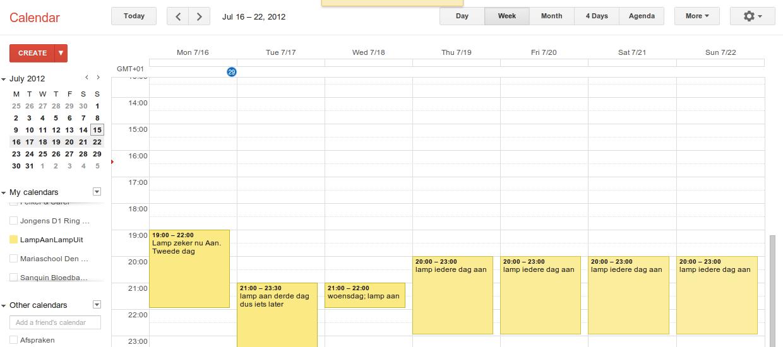 how to turn off goodgle calendars