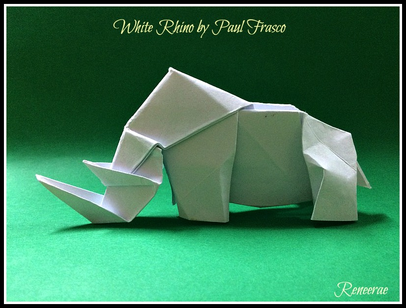 Lifes Simple Pleasure Origami Creations The Mighty White Rhino