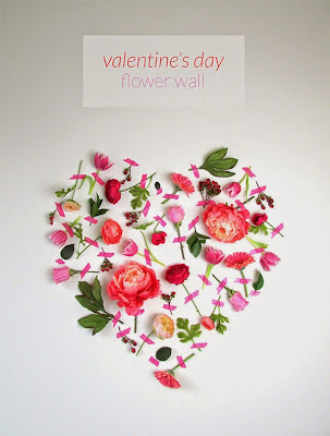 Heart shape wall decoration idea for Valentines day using Flowers