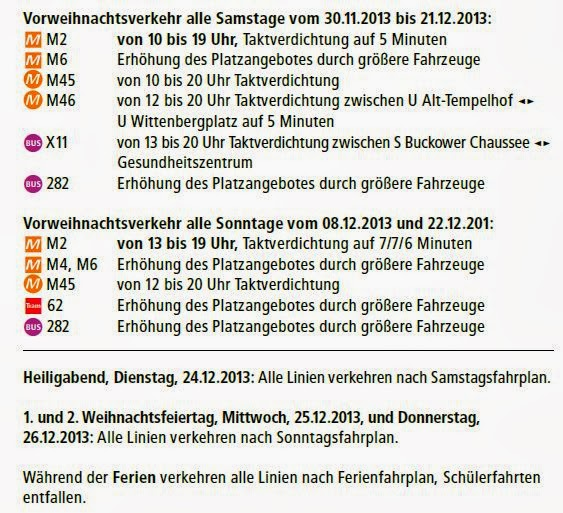 Fahrplan: Vor- & Weihnachtsverkehr Straßenbahn & Bus
