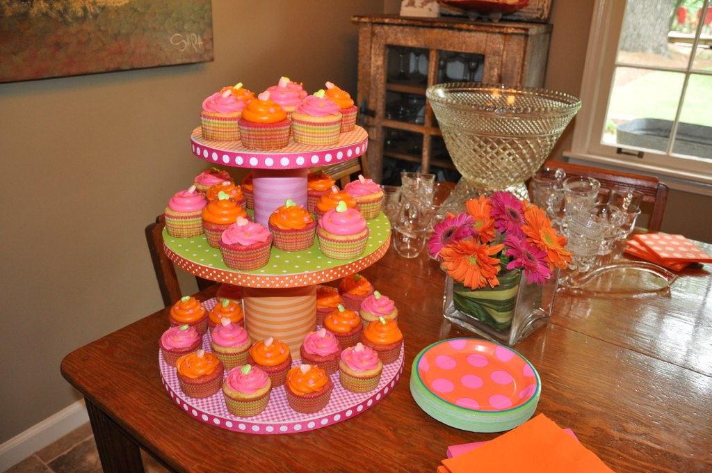 Indulge With Me Pink And Orange Baby Shower