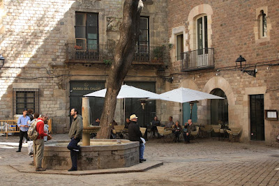 Sant Felip Neri square in the Barcelona Gothic Quarter
