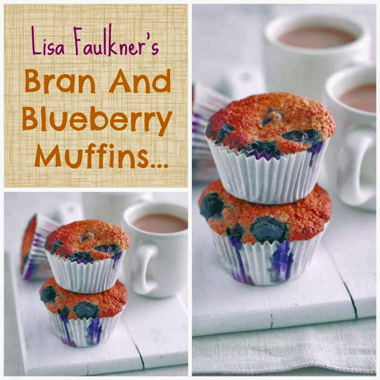 Lisa Faulkner's Bran And Blueberry Muffins... | Claire Justine