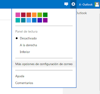agregar panel de lectura en outlook.com
