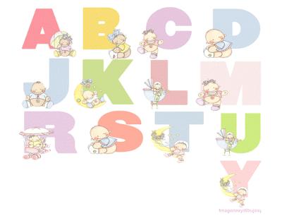 Letras con bebes