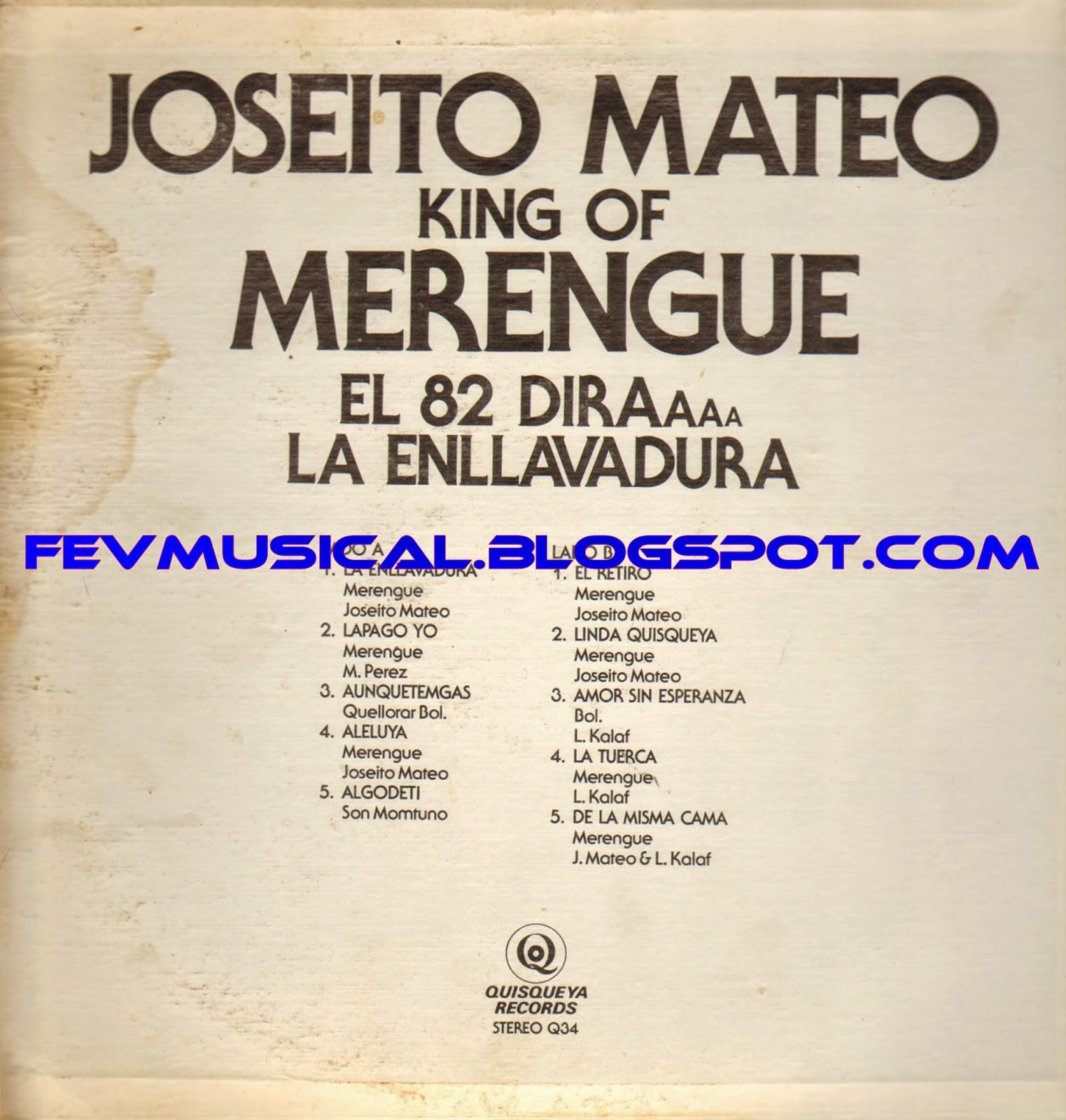 Joseito Mateo King Of Merengue