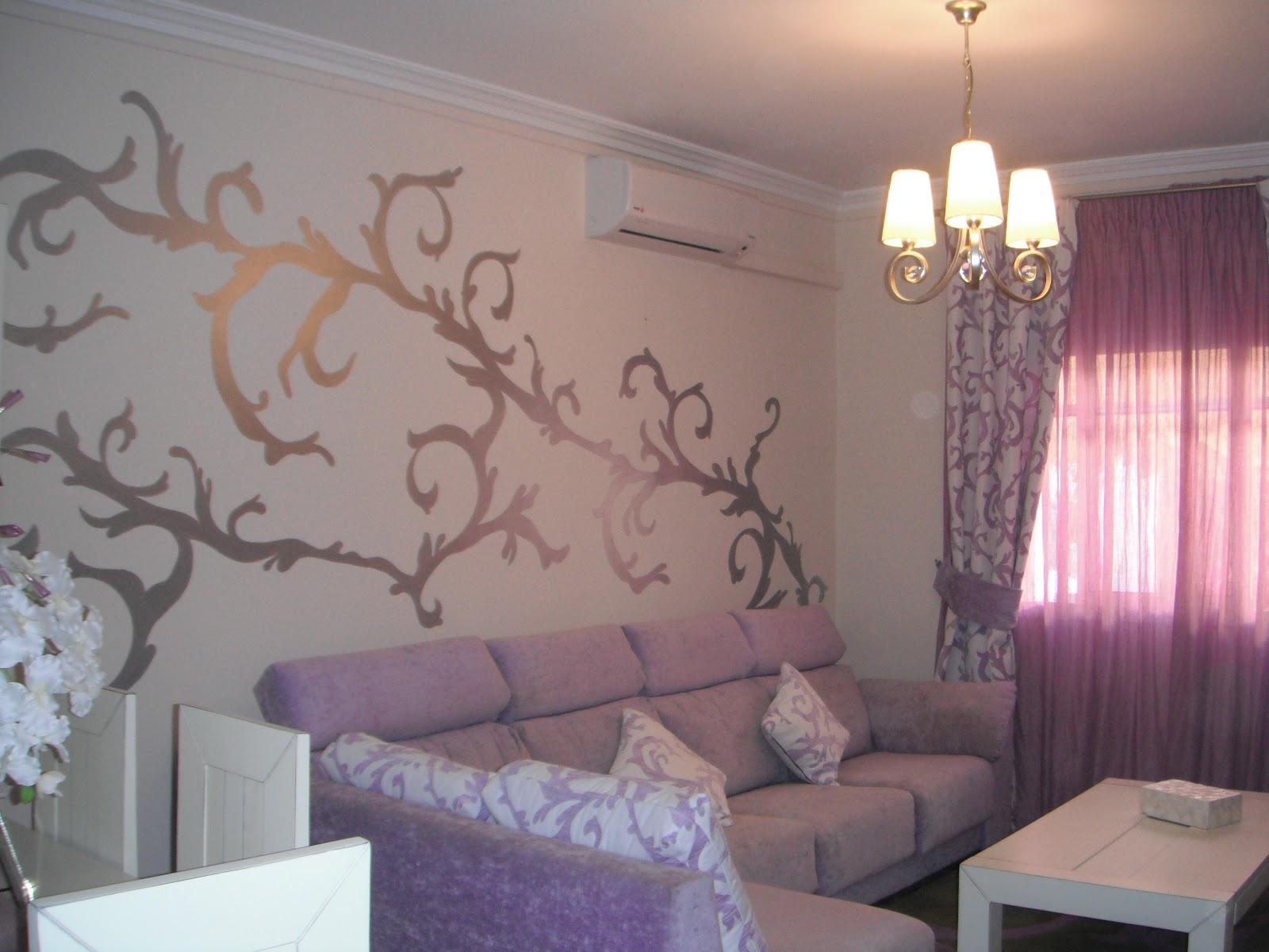 Trescoloresson sal n de m nica - Pintar paredes salon ...