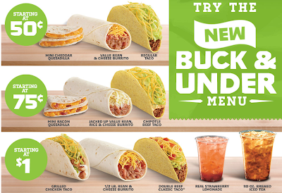 Introducing Del Taco's New Buck & Under and New Tastes Menus #spon