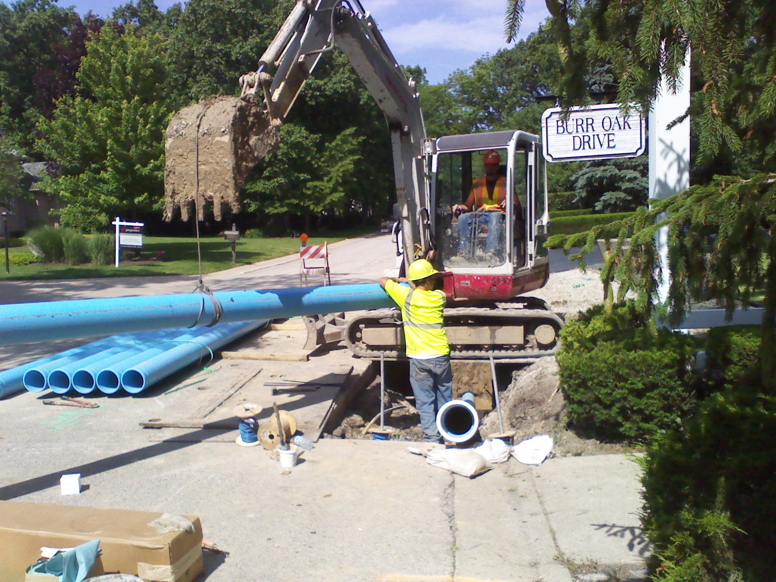 RJ Underground Completed The Directional Drilling Of The 8 Inch PVC Water  Main Along The Project Site. A. Lamp Concrete Contractors Began Underground  ...