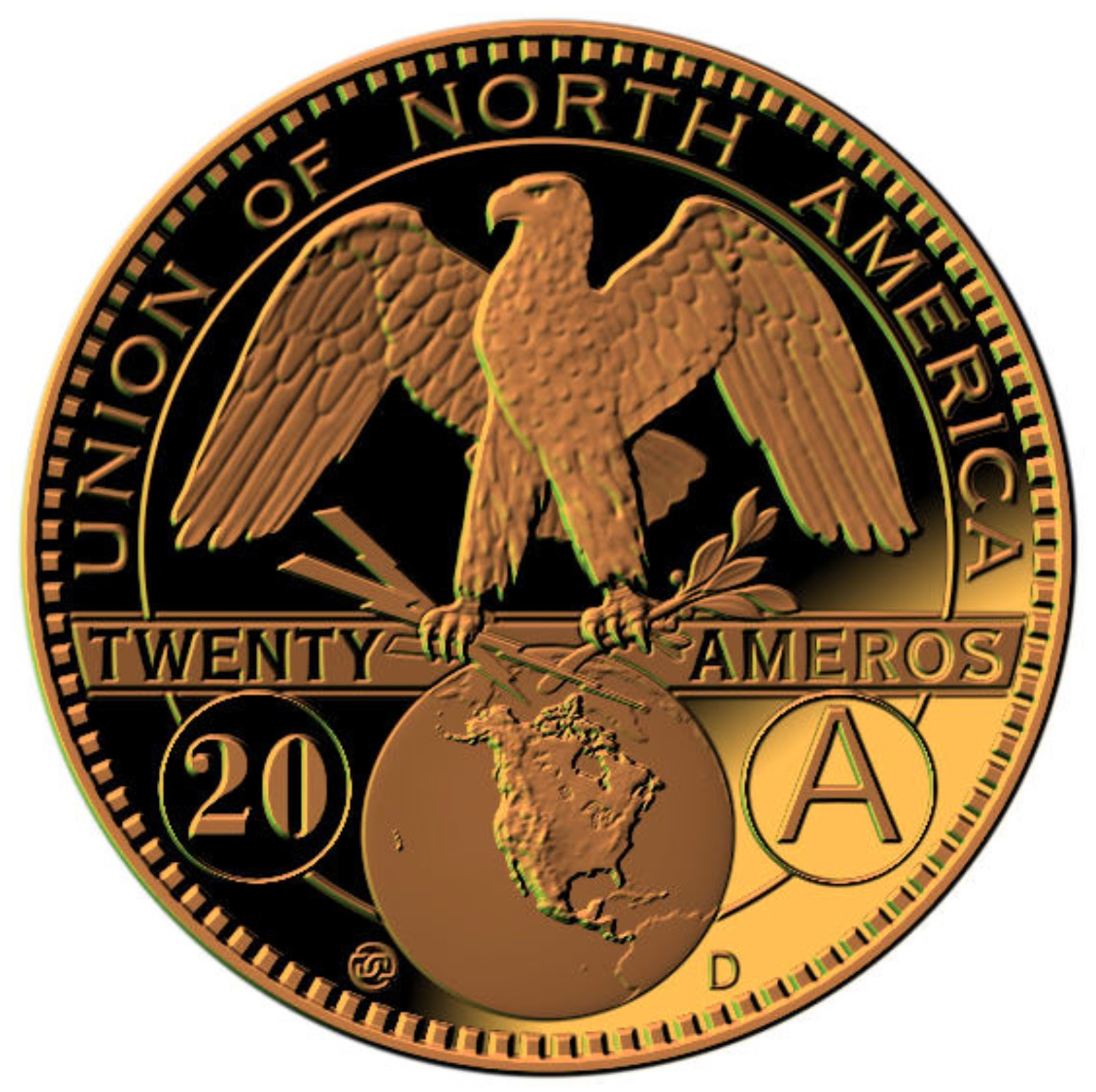 Images of the new US Amero currency minted at Denver  Amero%2Bcoin%2B1.%2B%231ab