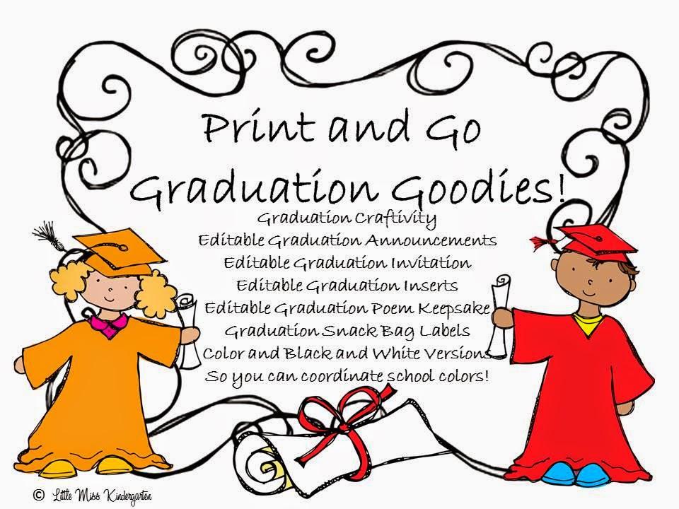 http://www.teacherspayteachers.com/Product/Graduation-Goodies-and-Craftivity-679423