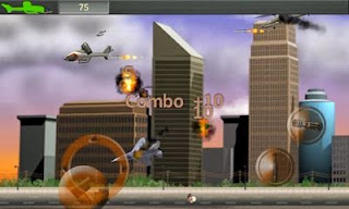 Screenshots of the Drone Attack for Android tablet, phone.