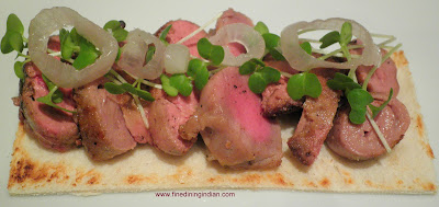 fine dining indian recipe and picture for spiced chicken liver,gizard,heart