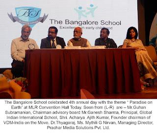 THE BANGALORE SCHOOL PARADISE ON EARTH