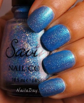 NailaDay: Movember Monday Moustache Mani: Savina Sparkling Water
