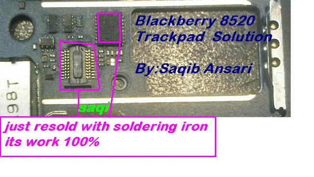 Blackberry 8520 trackpad fixed solution