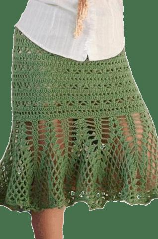 летняя юбка, связанная крючком