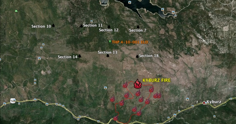 THPBlog: Kyburz Fire burning near Sierra Pacific Industries Quiver THP