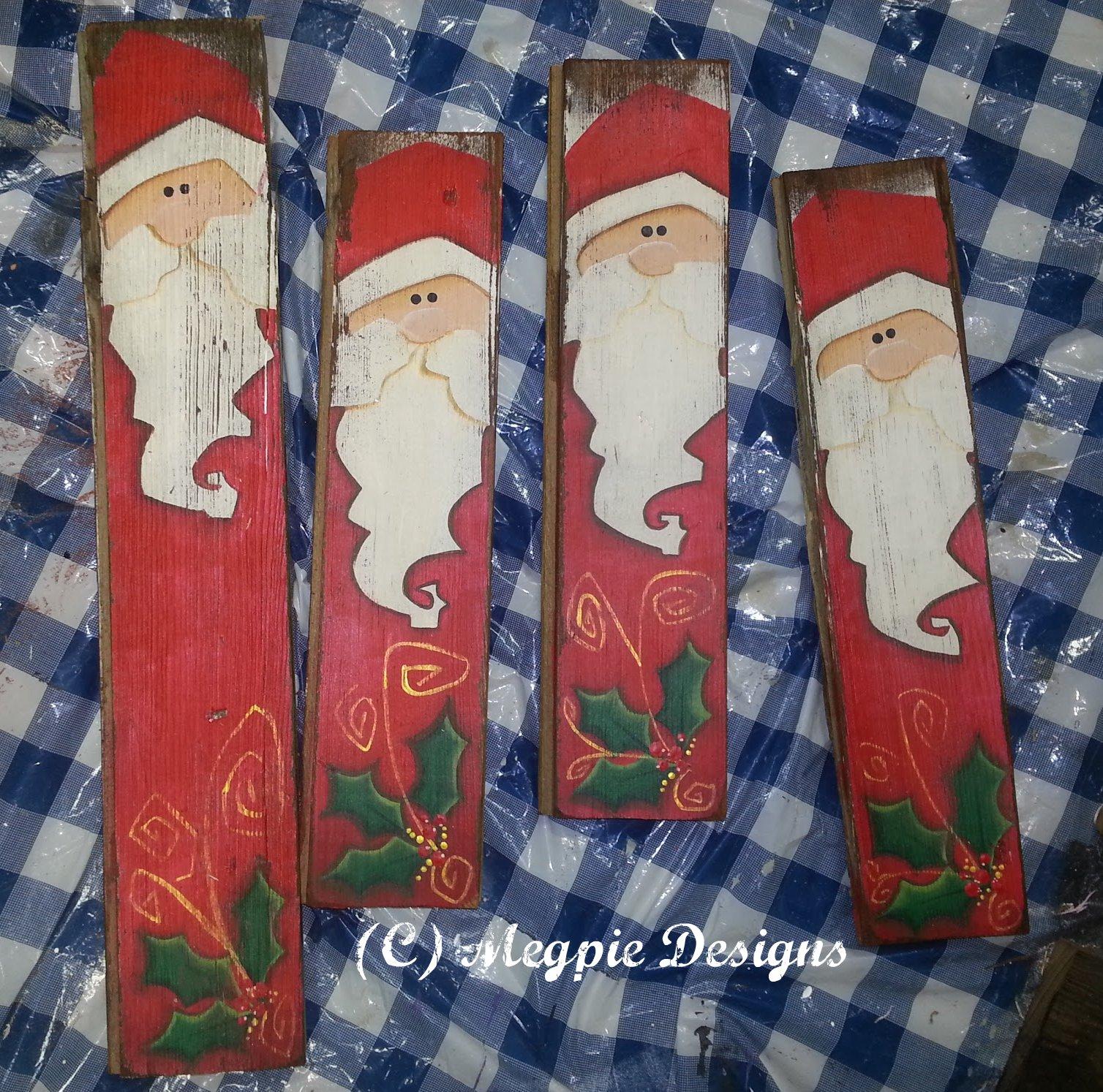Megpie Designs Barn Wood Santa Dcc Blog Hop