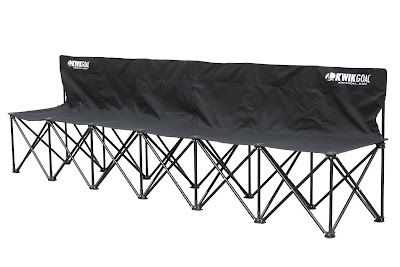 black kwik goal 6 seat bench sale