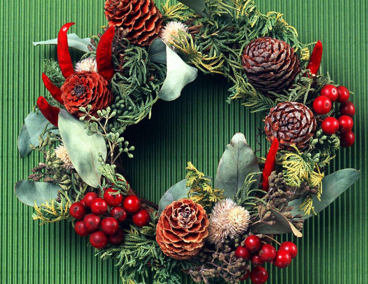 Estilo de corona de navidad para la puerta de casa - Coronas de navidad para puertas ...