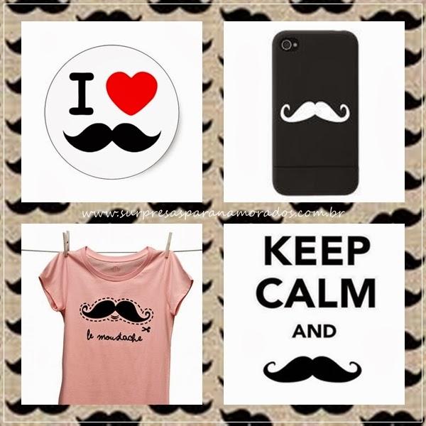 capa celular e camiseta de bigode