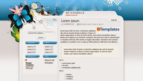 Butterfly - Free Blogger Theme