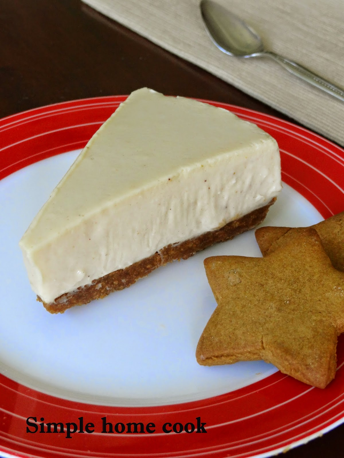 Simple home cook: Gingerbread cheesecake