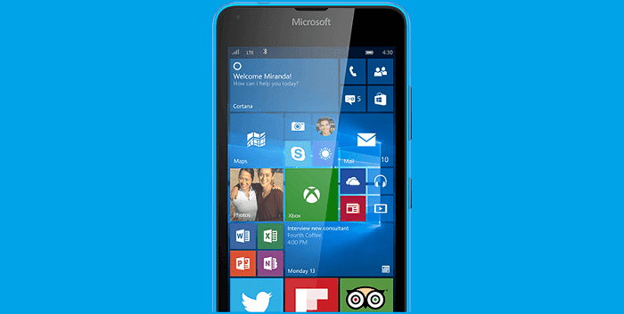 windows 10 on lumia phone