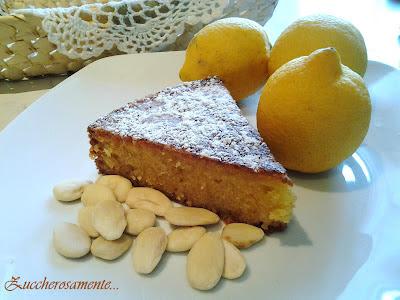 Torta caprese al limone e cioccolato bianco di salvatore de riso