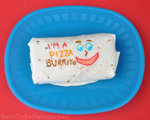 Pizza Burrito School Lunch by BentOnBetterLunches