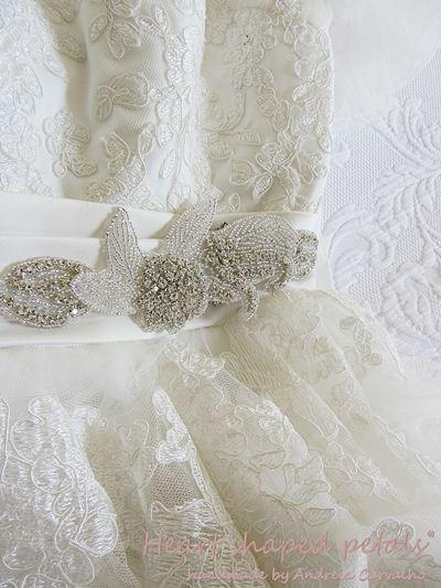 Bridal rhinestone sash for wedding dresses
