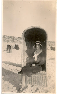 Woman in beach chair