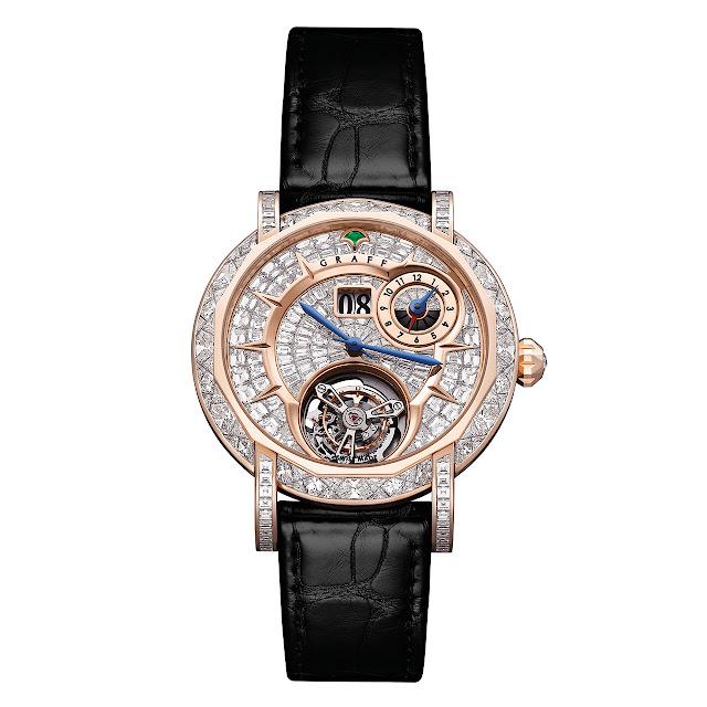 Graff Diamond MasterGraff Grand Date Dual Time Tourbillon Watch