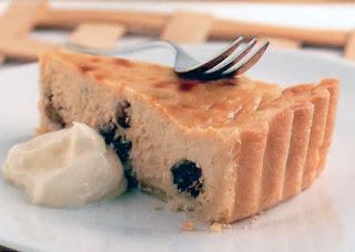 Classic British curd tart with raisins