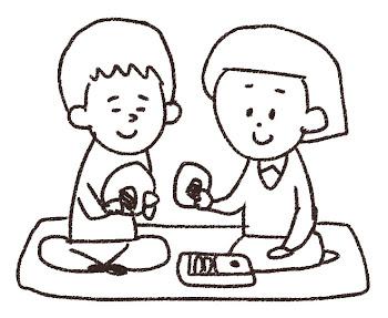 ピクニックのイラスト 線画