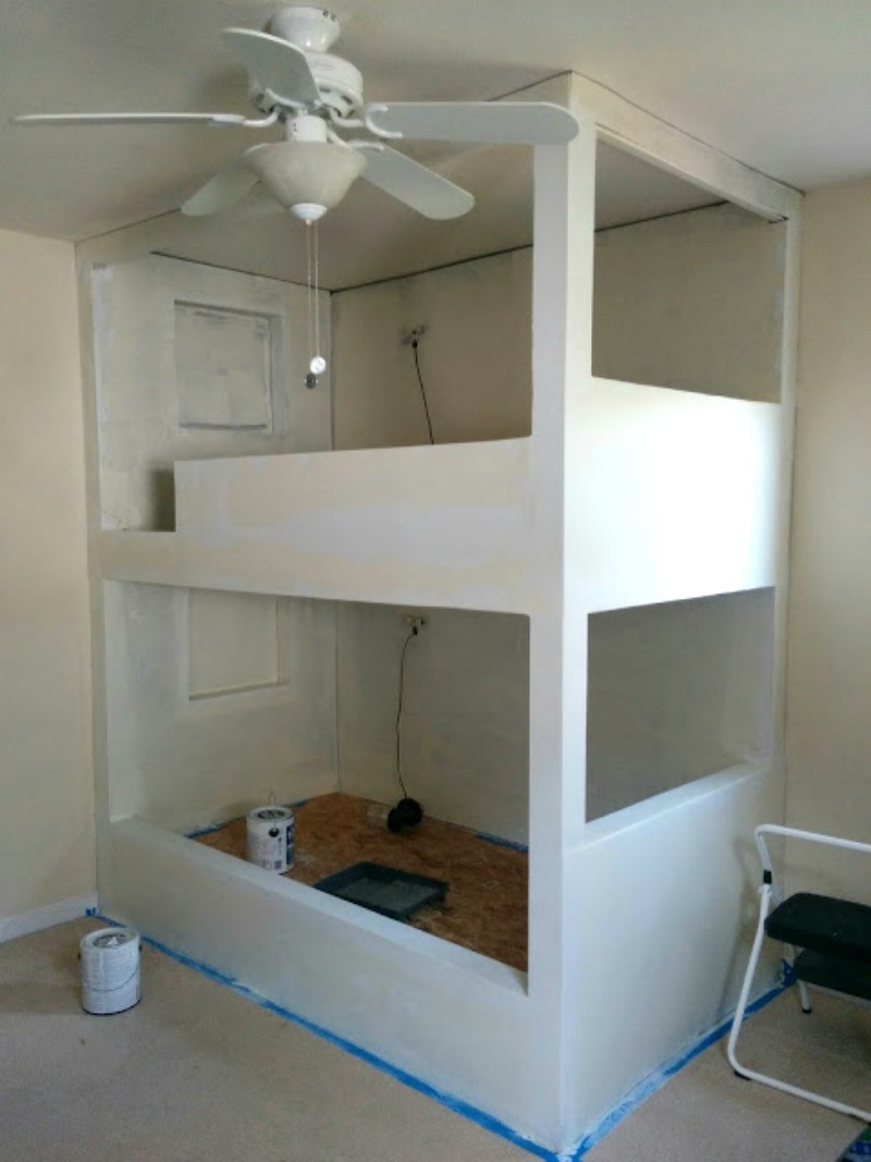 Built In Bunk Beds One Room Challenge Week 4 Starting To See Progress O Our House
