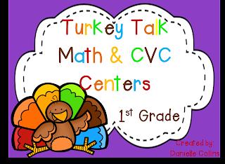 1st Grade Math & CVC Literacy Centers