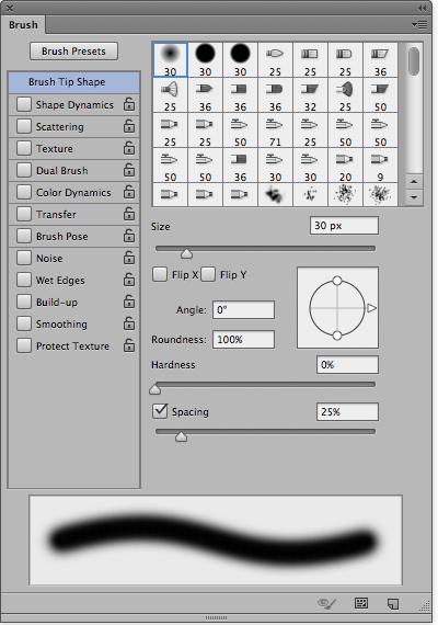 brush hilang dan muncul di editor photoshop