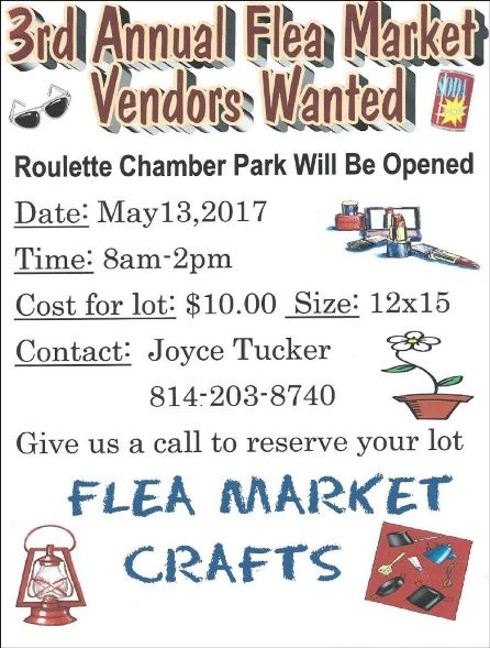 5-13 3rd Annual Flea Market in Roulette