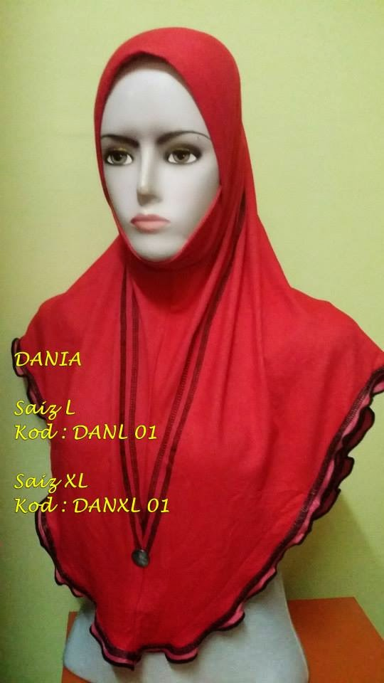 Tudung DANIA (Berdagu) Saiz L (MAY 2014)